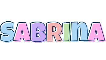Sabrina pastel logo