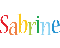 Sabrine birthday logo