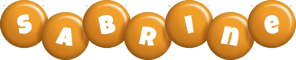 Sabrine candy-orange logo