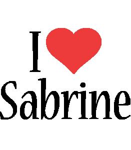 Sabrine i-love logo
