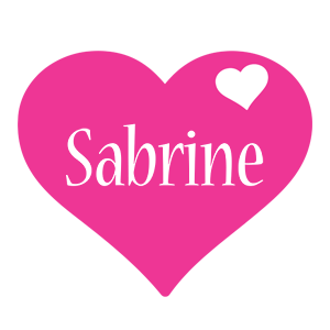 Sabrine love-heart logo