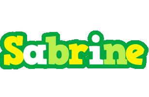 Sabrine soccer logo
