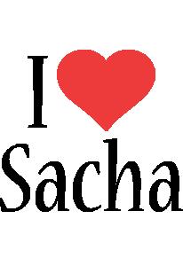 Sacha i-love logo
