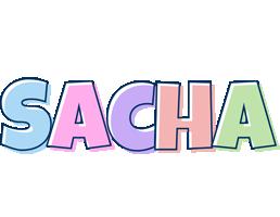 Sacha pastel logo