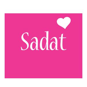 Sadat love-heart logo