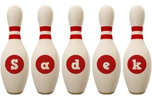 Sadek bowling-pin logo