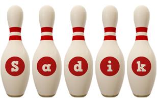 Sadik bowling-pin logo