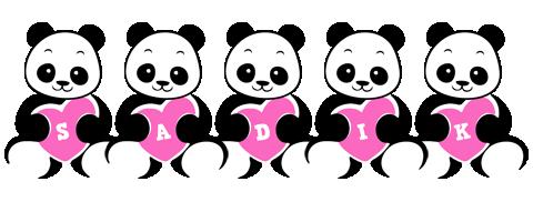 Sadik love-panda logo