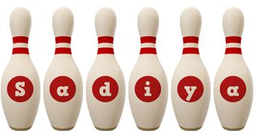 Sadiya bowling-pin logo