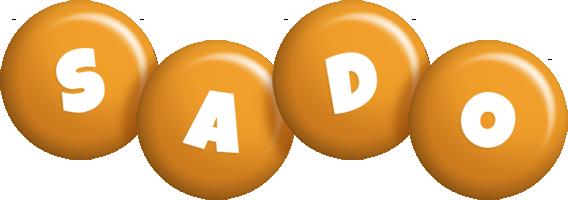 Sado candy-orange logo