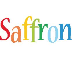 Saffron birthday logo