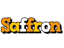 Saffron cartoon logo