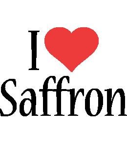 Saffron i-love logo