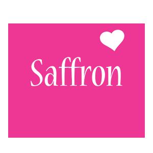 Saffron love-heart logo