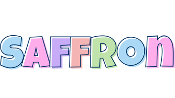 Saffron pastel logo