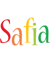 Safia birthday logo