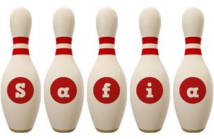 Safia bowling-pin logo
