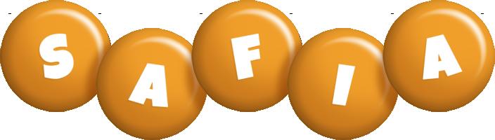 Safia candy-orange logo