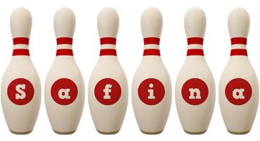 Safina bowling-pin logo
