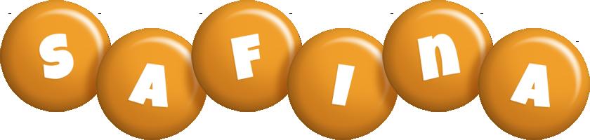 Safina candy-orange logo
