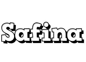 Safina snowing logo