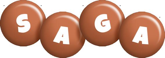 Saga candy-brown logo