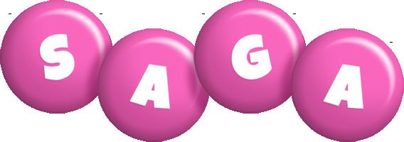 Saga candy-pink logo