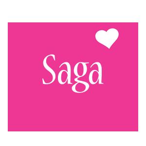 Saga love-heart logo