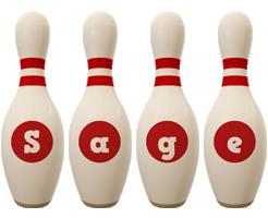 Sage bowling-pin logo