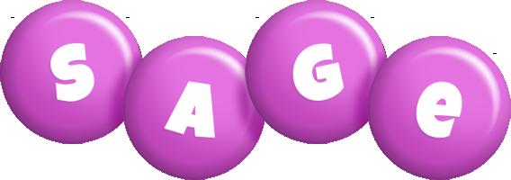 Sage candy-purple logo