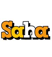 Saha cartoon logo