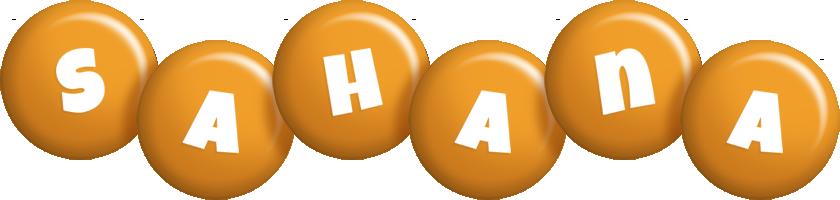 Sahana candy-orange logo
