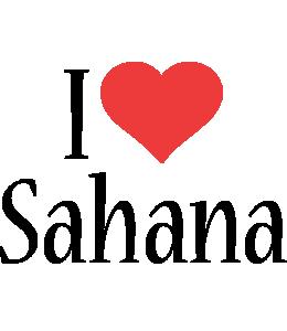 Sahana i-love logo