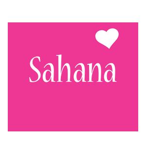 Sahana love-heart logo