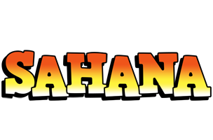Sahana sunset logo
