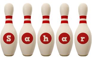 Sahar bowling-pin logo