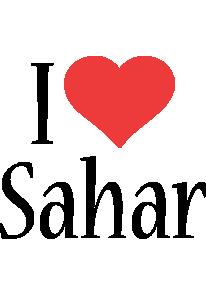 Sahar i-love logo