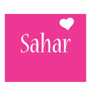 Sahar love-heart logo