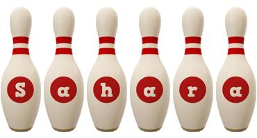 Sahara bowling-pin logo