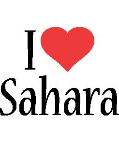 Sahara i-love logo