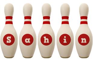 Sahin bowling-pin logo