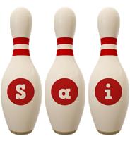 Sai bowling-pin logo