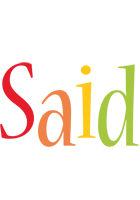 Said birthday logo