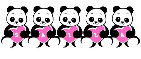 Saila love-panda logo