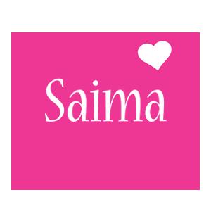 Saima love-heart logo