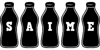 Saime bottle logo