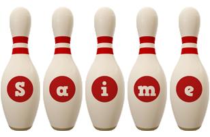 Saime bowling-pin logo