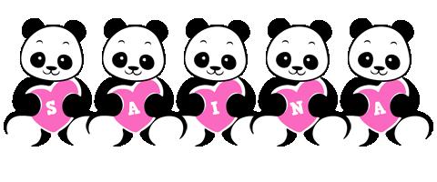 Saina love-panda logo