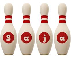 Saja bowling-pin logo