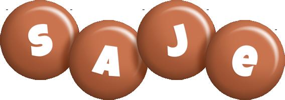 Saje candy-brown logo